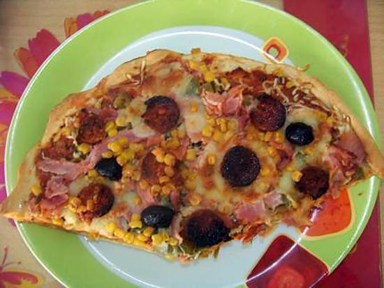recette pizza chorizo