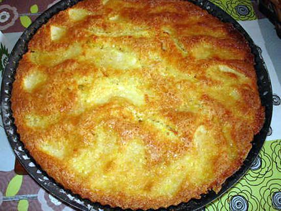 recette Tarte moelleuse aux pommes et noix de coco
