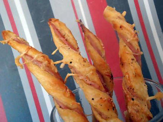 recette torsades feuilletées au jambon (apéro en famille)