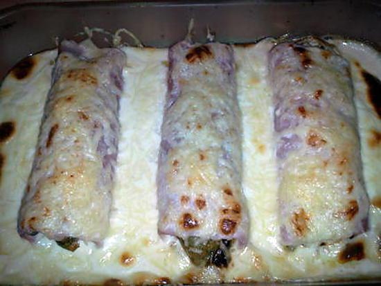 Recette d 39 endives au jambon sauce vache qui rit un delice - Recette endives au jambon ...