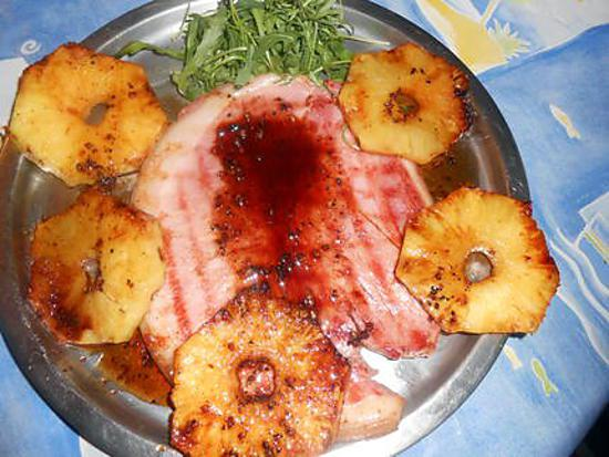 recette Jambon grillé a l ananas