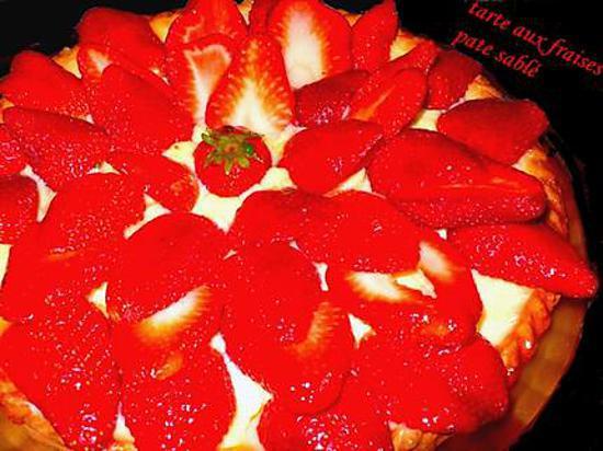 recette de tarte aux fraises pate sabl. Black Bedroom Furniture Sets. Home Design Ideas