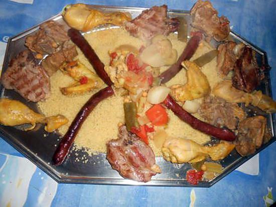 recette Couscous agneau,poulet,merguez