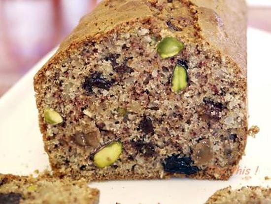 recette de cake l ger aux fruits secs sans gluten. Black Bedroom Furniture Sets. Home Design Ideas