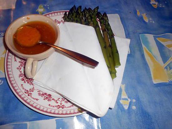 recette Asperges vertes vinaigrette d orange