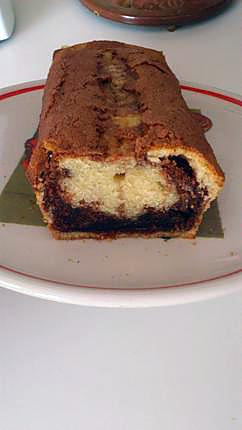 recette Gâteau marbré praliné et chocolat sans beurre et sans reproche