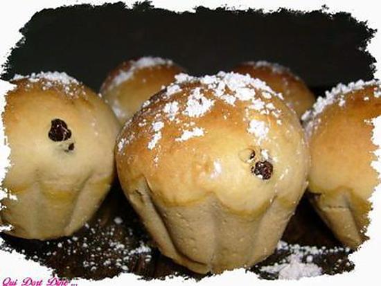 recette Briochette aux noix et fruits secs