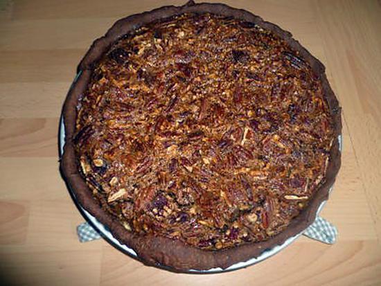 recette de pecan pie tarte aux noix de p can et p te au. Black Bedroom Furniture Sets. Home Design Ideas