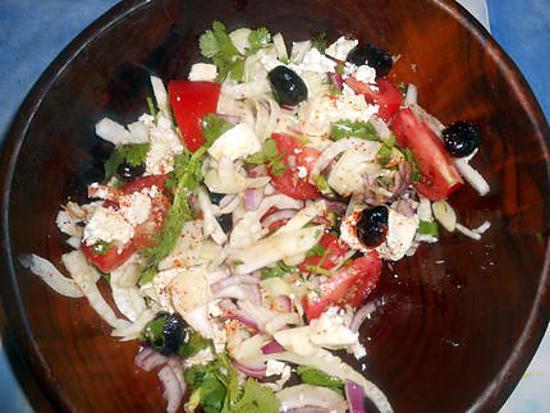 recette Salade de fenouil à la grecque