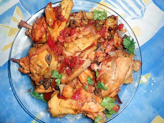 Recette de poulet marengo par jeanmerode - Poulet marengo recette ...
