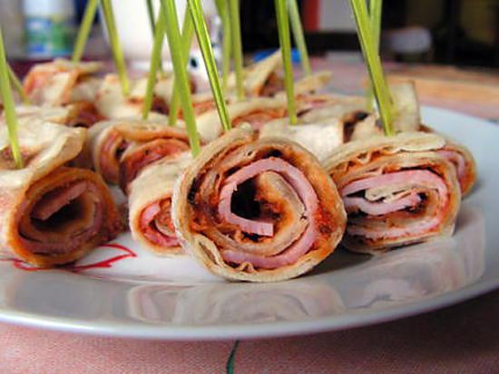 recette Wraps jambon et pesto