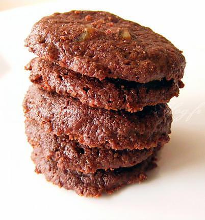 recette Sablés mi-fondants au chocolat et aux écorces d'orange confites (P. Hermé)