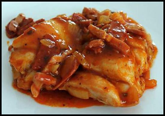 recette Sauté de poulet au chorizo et sauce tomate