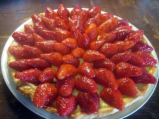recette de tarte aux fraises la cr me p tissi re par tatie. Black Bedroom Furniture Sets. Home Design Ideas