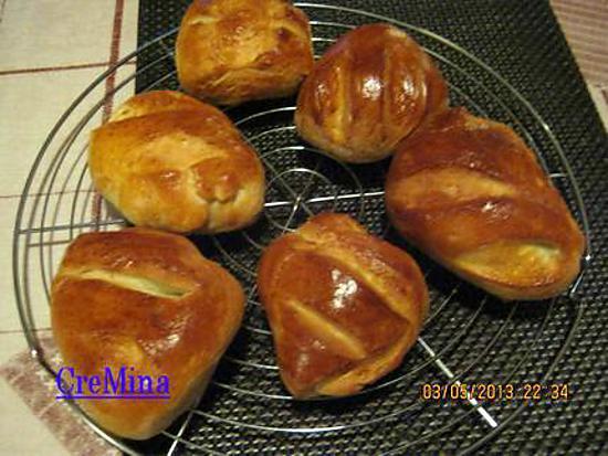 Recette de petits pains au lait par cremina - Recette petit pain au lait ...