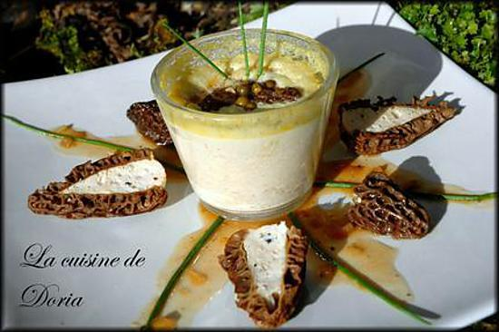 recette Flans de Foie gras aux Morilles