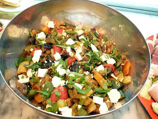 Légumes grilles feta menthe 430
