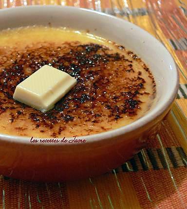 recette crème brûlée au chocolat blanc