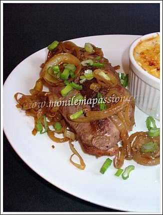 recette Steak de canard à la créole