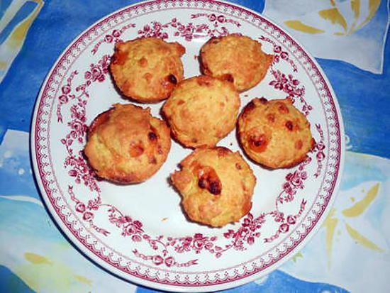recette Petits gateaux au cheddar et parmesan
