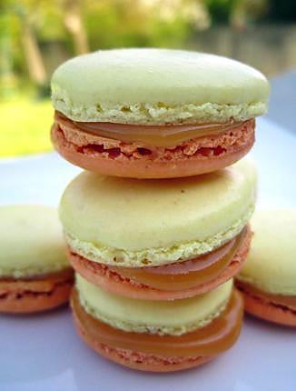 recette Macarons pommes caramel au beurre salé