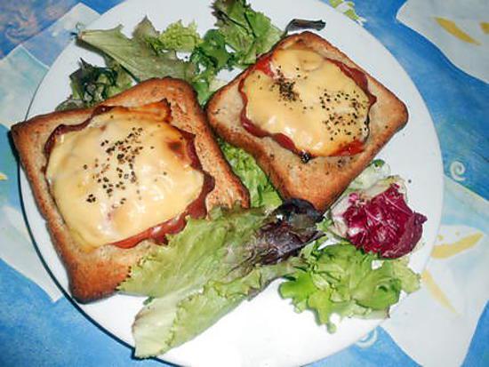 recette Tartine au bacon et fromage