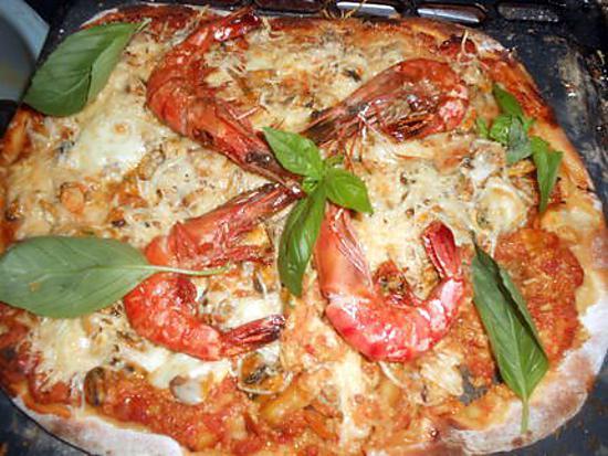recette de pizza aux fruits de mer par jeanmerode. Black Bedroom Furniture Sets. Home Design Ideas