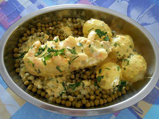 cuisse de poulet farcie légumes crevettes 430