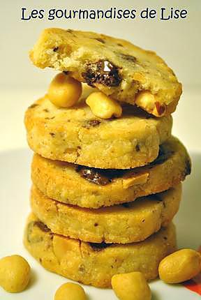 recette Biscuits croquants aux cacahuètes et chocolat