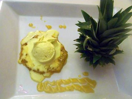 recette ma glace curry coco et son ananas poélé au caramel de rhum