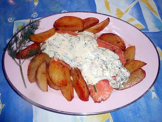 recette Filet de saumon creme d aneth,pommes de terres fondantes