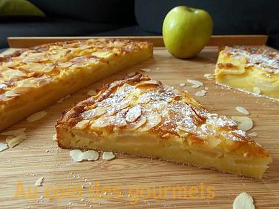 recette de tarte moelleux aux pommes et aux amandes. Black Bedroom Furniture Sets. Home Design Ideas