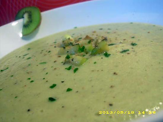 recette douceur de courgettes et kiwis