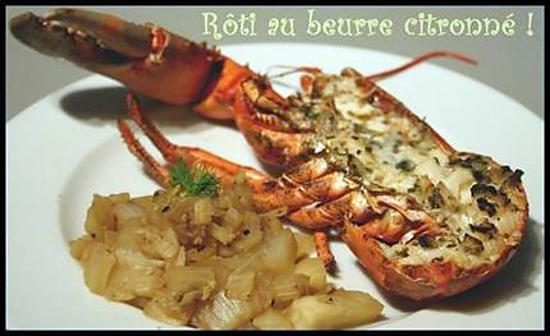 Recette de homard r ti au four beurre citronn et - Cuisiner le fenouil au four ...
