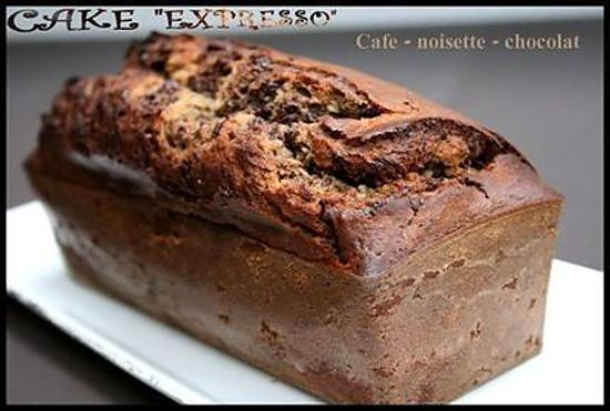 "recette ** Cake marbré ""Merano"" ou ""expresso"" : café - noisette - chocolat**"