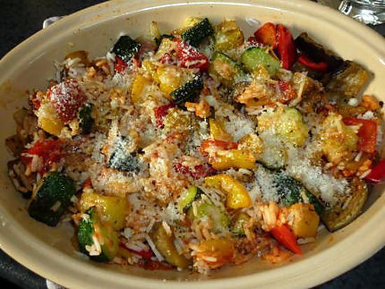 recette Riz aux légumes grillés