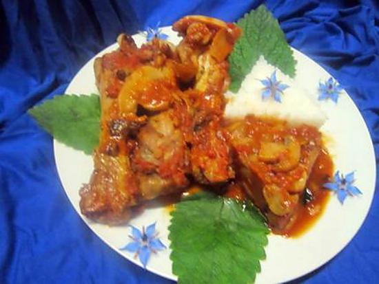 Recette de manchons de canard sauce tomates et champignons - Recette manchons de canard en cocotte ...