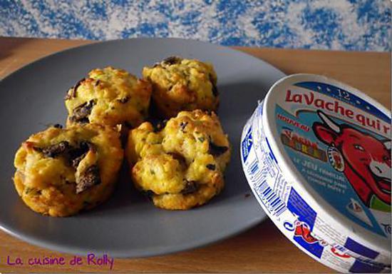 recette Muffins salés champignons et vache qui rit