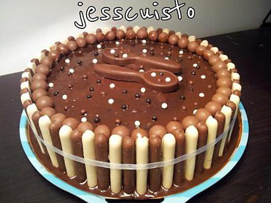 Decor De Gateau Au Chocolat Blanc