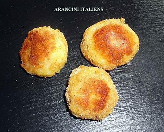 recette d 39 arancini italiens boulettes de riz mozzarella. Black Bedroom Furniture Sets. Home Design Ideas