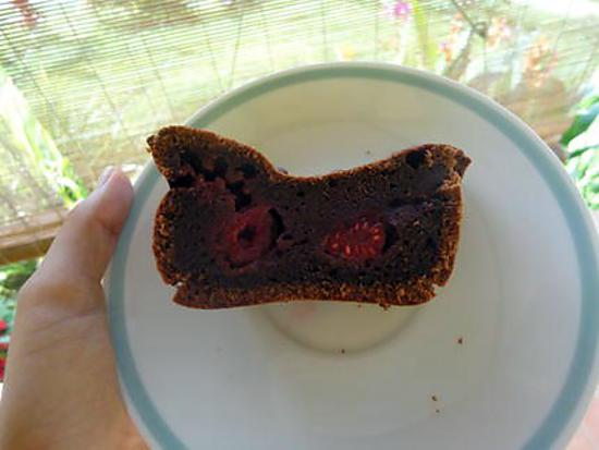 recette fête des mères : gâteau chocolat framboises