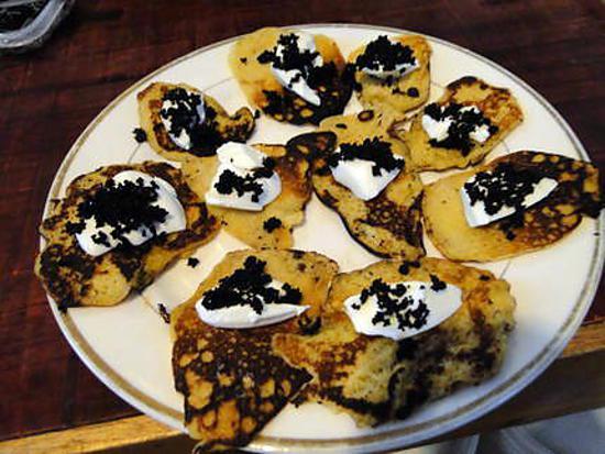 recette Blini à la crème aigre et au caviar