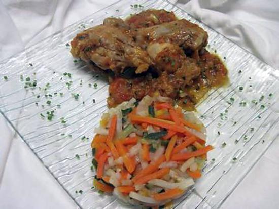 Recette de pilons de poulet la sauce tomates - Pilon de poulet a la poele ...