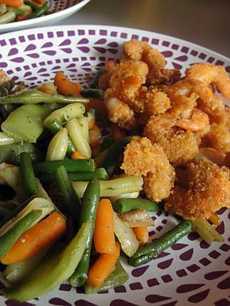 recette crevettes panées au curly