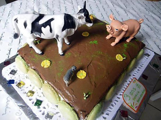 Gateau anniversaire animaux de la ferme