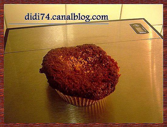 recette Muffins chocolat au lait et noix de coco