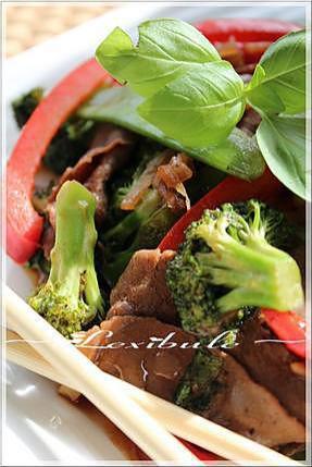 recette ~Sauté de boeuf au basilic thaï~