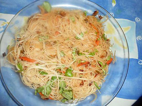recette Nouilles chinoises au piment et sauce soja
