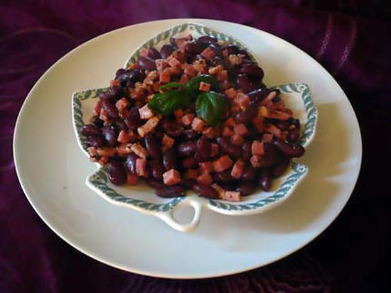 recette de po l e lardons jambon haricots rouges. Black Bedroom Furniture Sets. Home Design Ideas