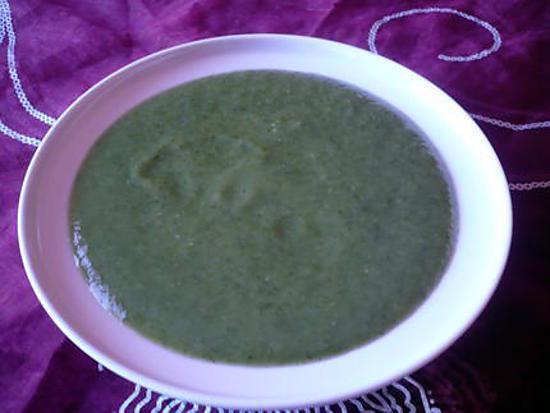 recette Potage courgettes/épinards